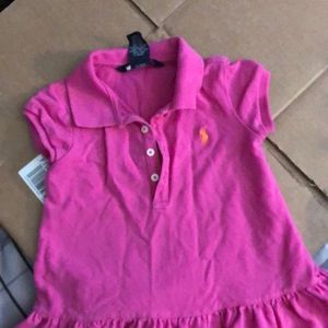 Pink toddler polo dress